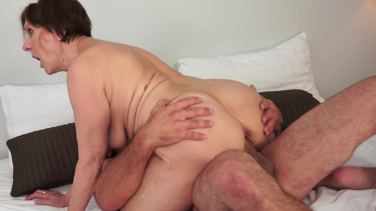 A Dick In The Pussy a granny gets a dick in her fat old hairy pussy on the