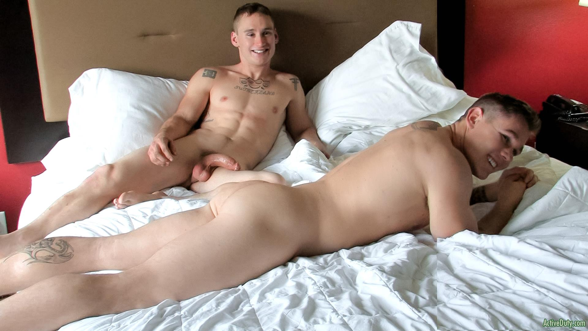 Active Gay Porn active duty randy and tim straight army guys fucking muscle