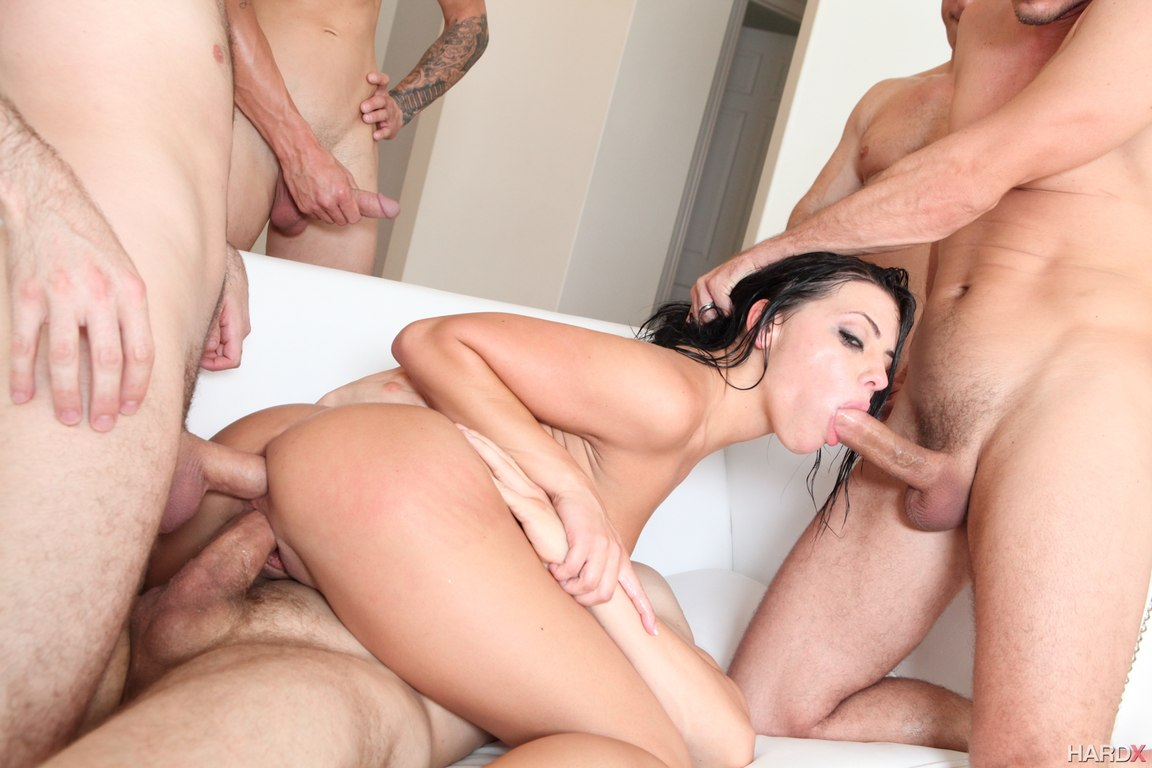 adriana chechik does first ever triple anal scene photos from hard 2