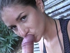agnessa in a guy got his amateur dick sucked gorgeous gal