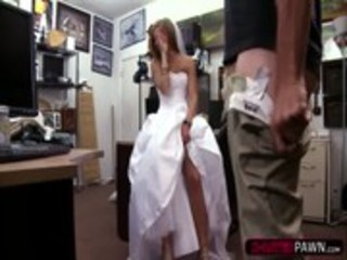 Getting fucked in wedding dress Amateur Blonde Bride Walks In To Sell Her Wedding Dress Gets Fucked Xxxpicz