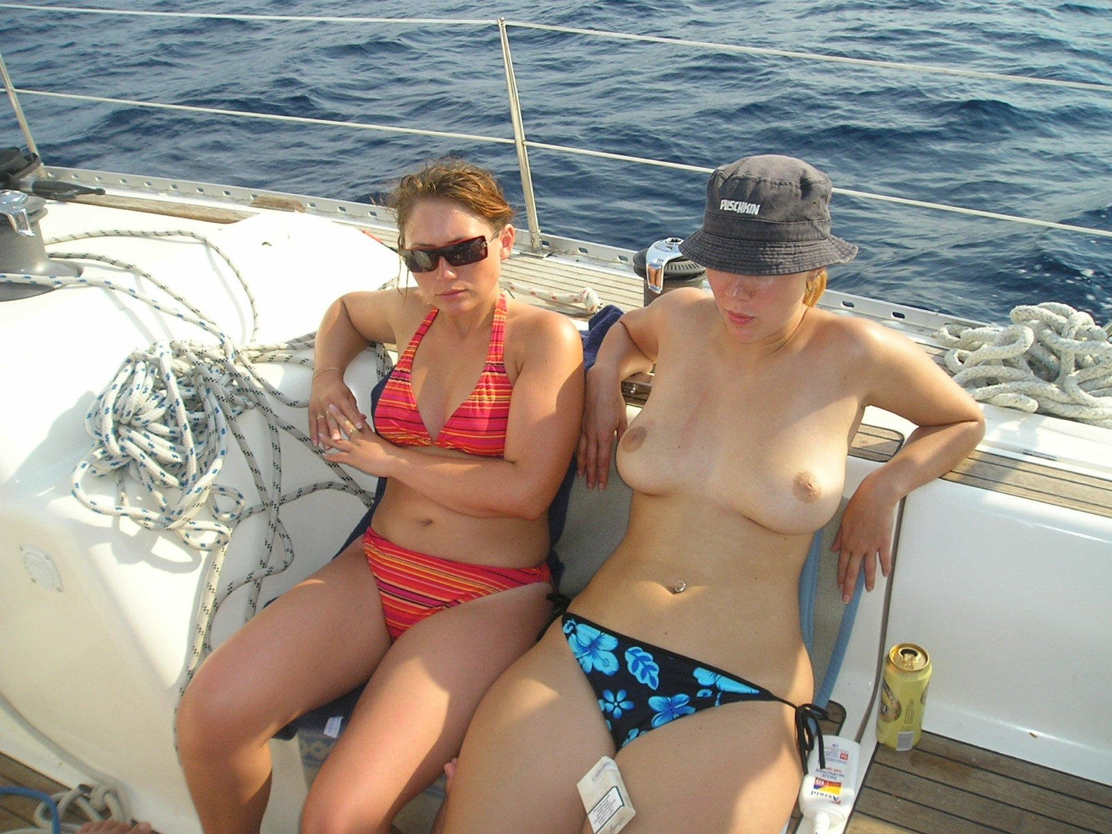 Boat pic sex wife