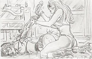 amazons dominate mixed wrestling lesbian wrestling art comics 1