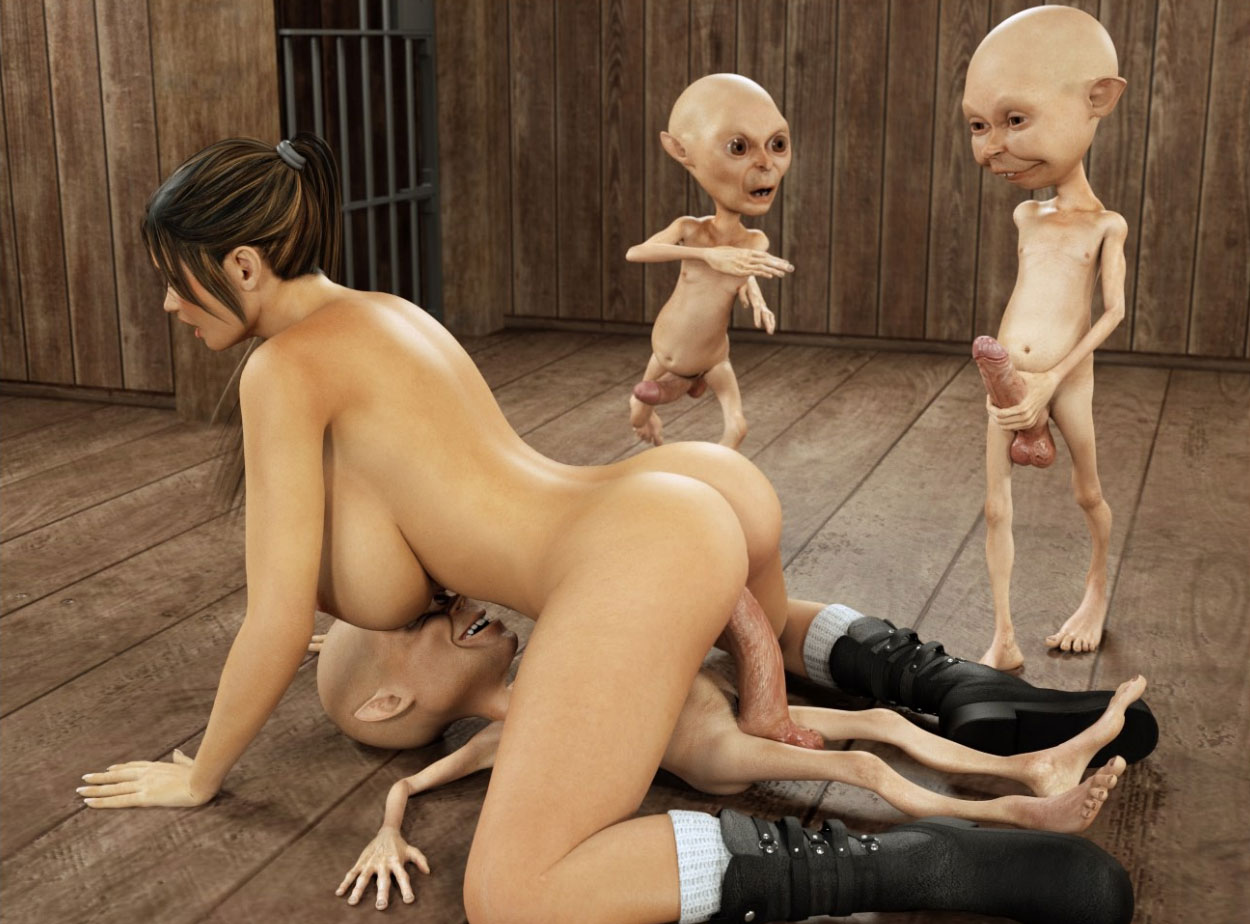 anal invasion with lara croft and monster gnomes at monsters