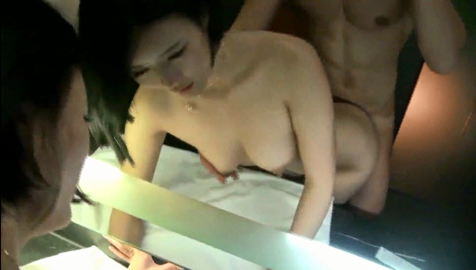 Two hotties strip and fuck guy