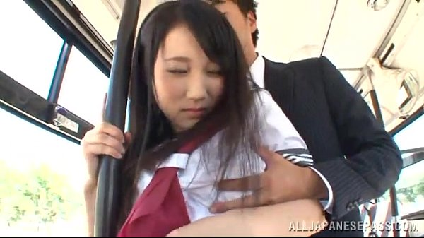 asian girl in school uniform gets nailed in a bus 1