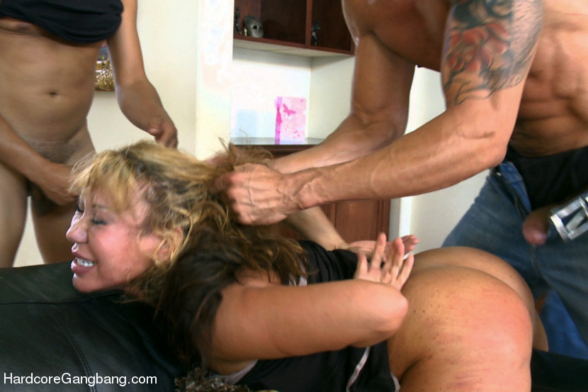 Huge Tits Rough Gangbang