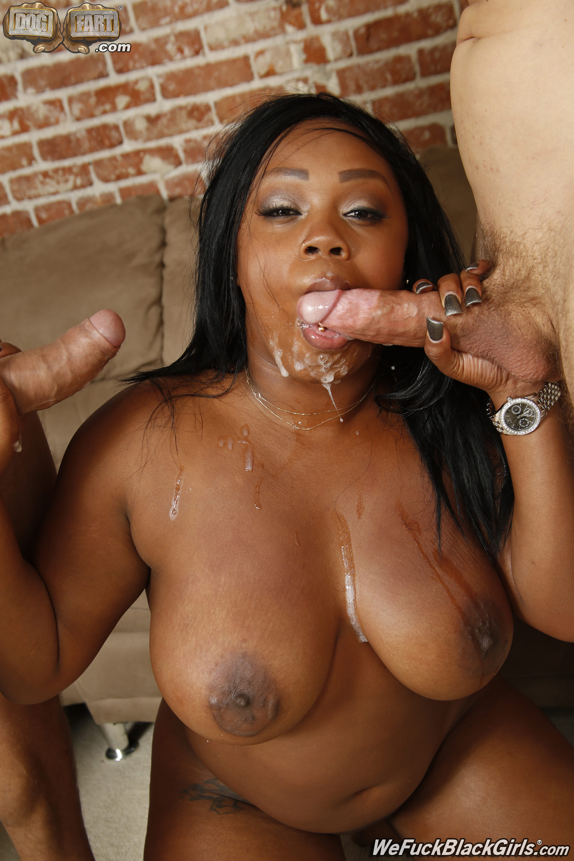 Black big boobs blowjob