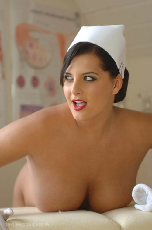 bbw nurse miss hayley strips off white pantyhose and uniform