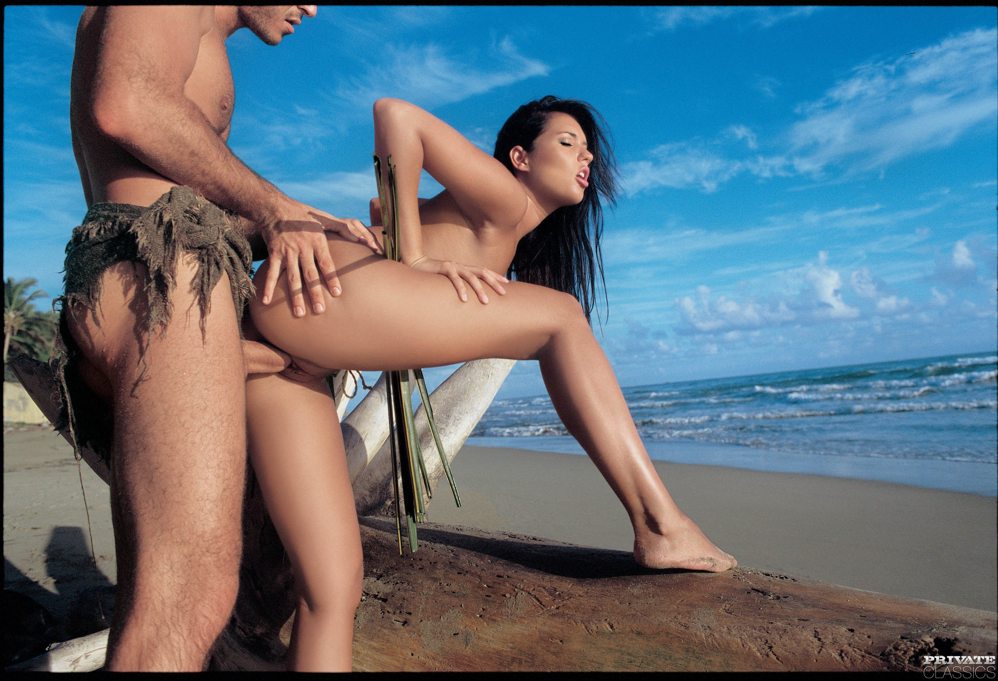 Theme simply Girl gets anal on beach