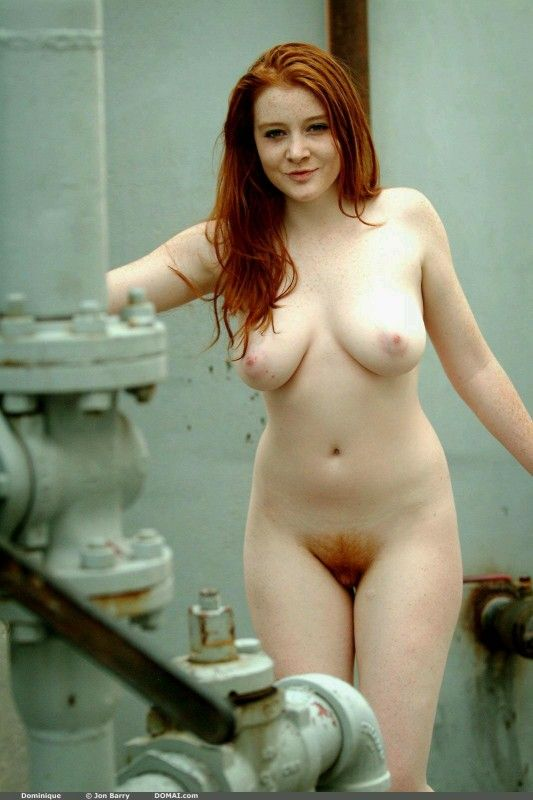 Hot nude redhead with freckles have