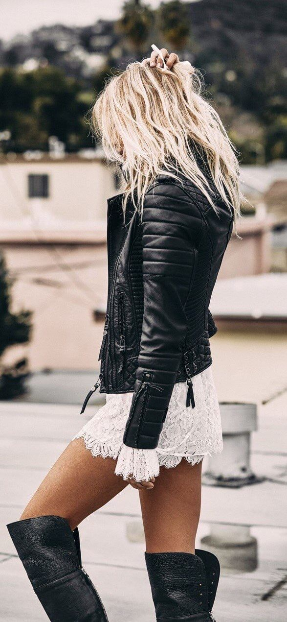 best leather jacket dress ideas on pinterest leather jackets