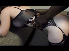 big assed white lingerie wife gangbang