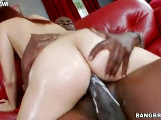 big booty white girl creams while riding a big black dick 6