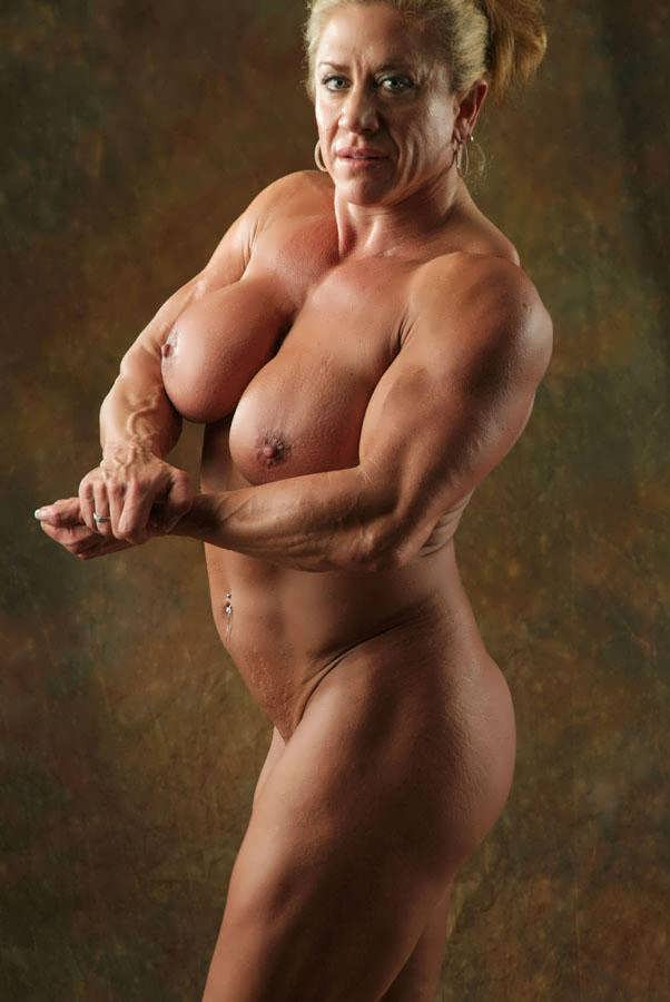 Down! muscular naked picture woman