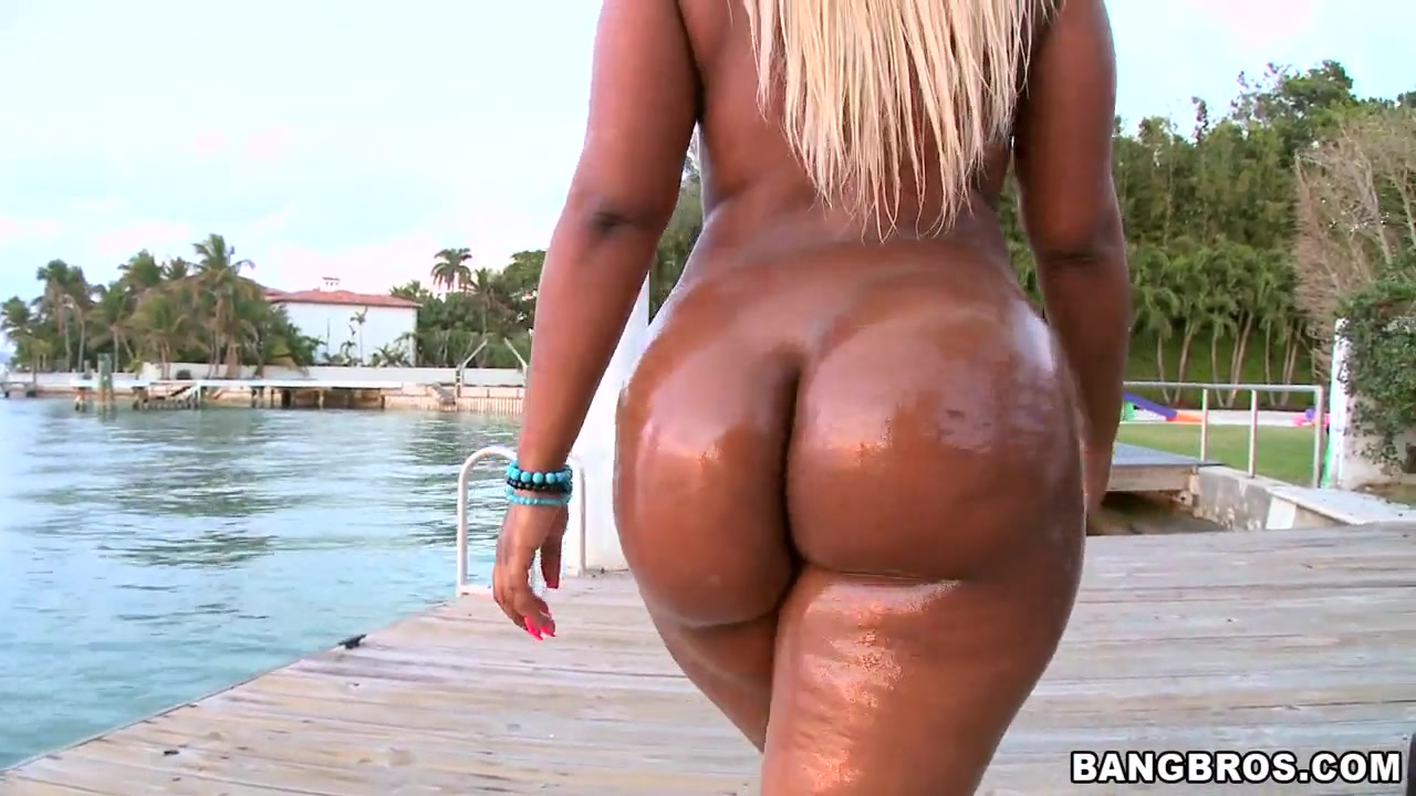 Ebony Riding Massive Dildo