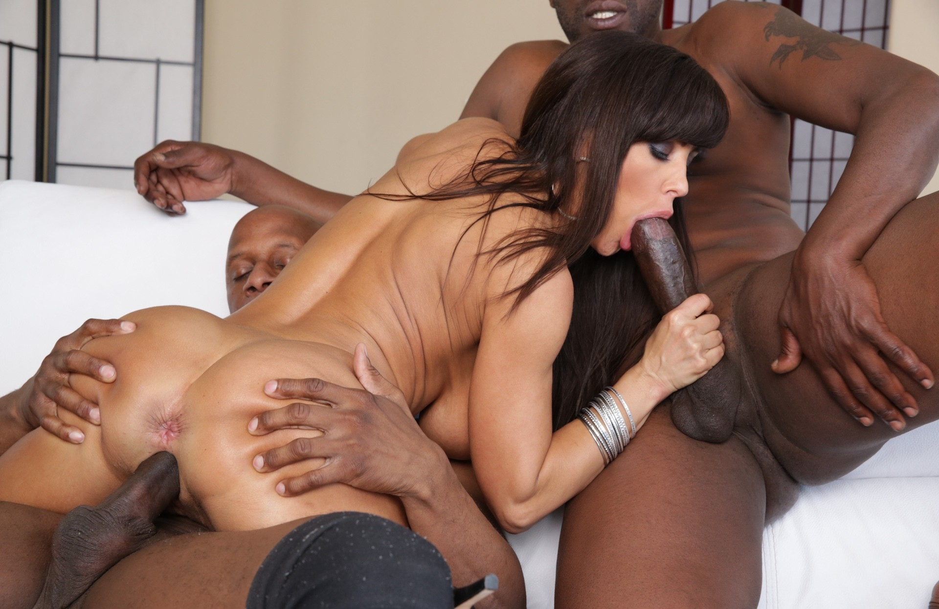 Milf interracial double penetration black