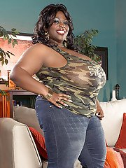 black babe simone fox flashing her massive hooters fat