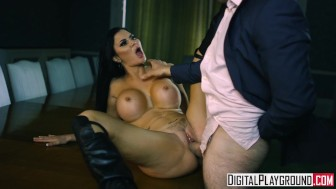 blown away scene jasmine jae shows of her big tits and leather boots