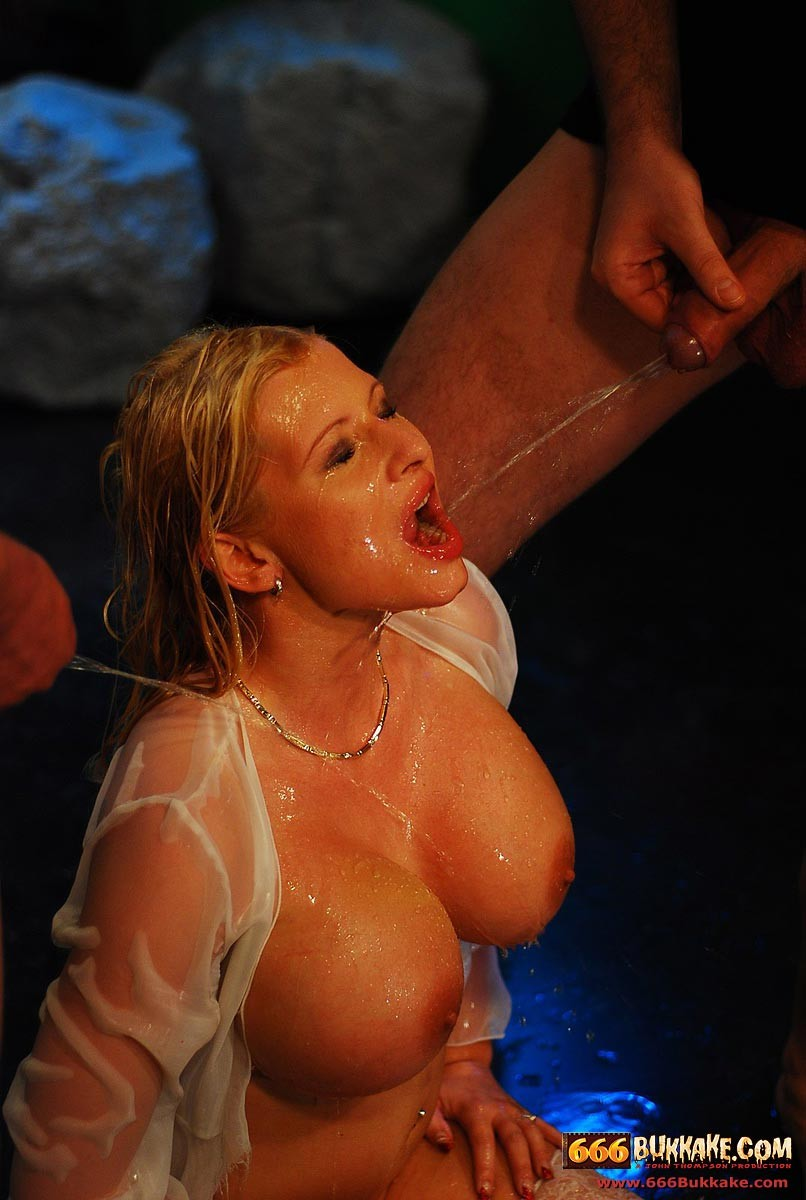 bukkake sex blonde babe gets drenched in piss porn pictures ...