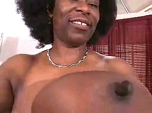 busty african mature has gigantic hooters