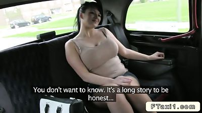 busty british amateur bangs fake taxi driver in public 1