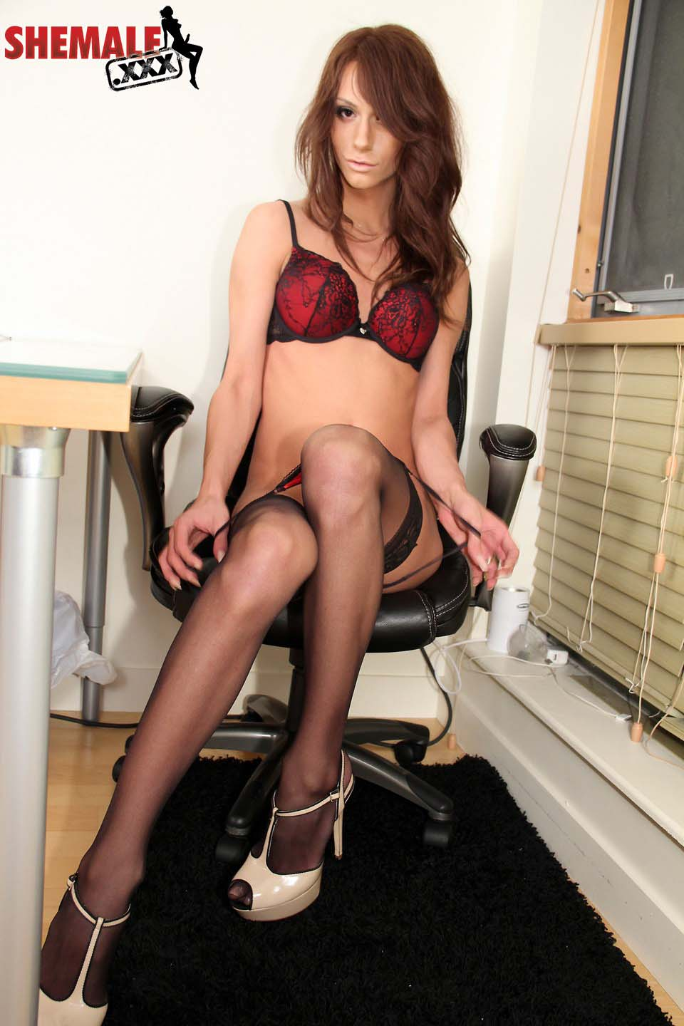 chloe rose stockings shemale