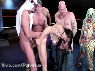 Chyna In A Wrestler Gangbang Queen Of The Ring Parody 1