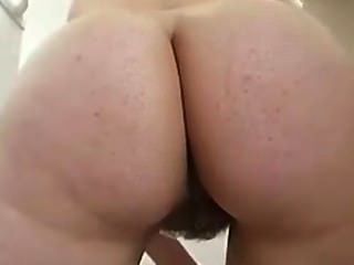 Older wife cleaning house naked