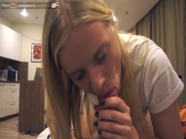 British Teen Blowjob Blonde