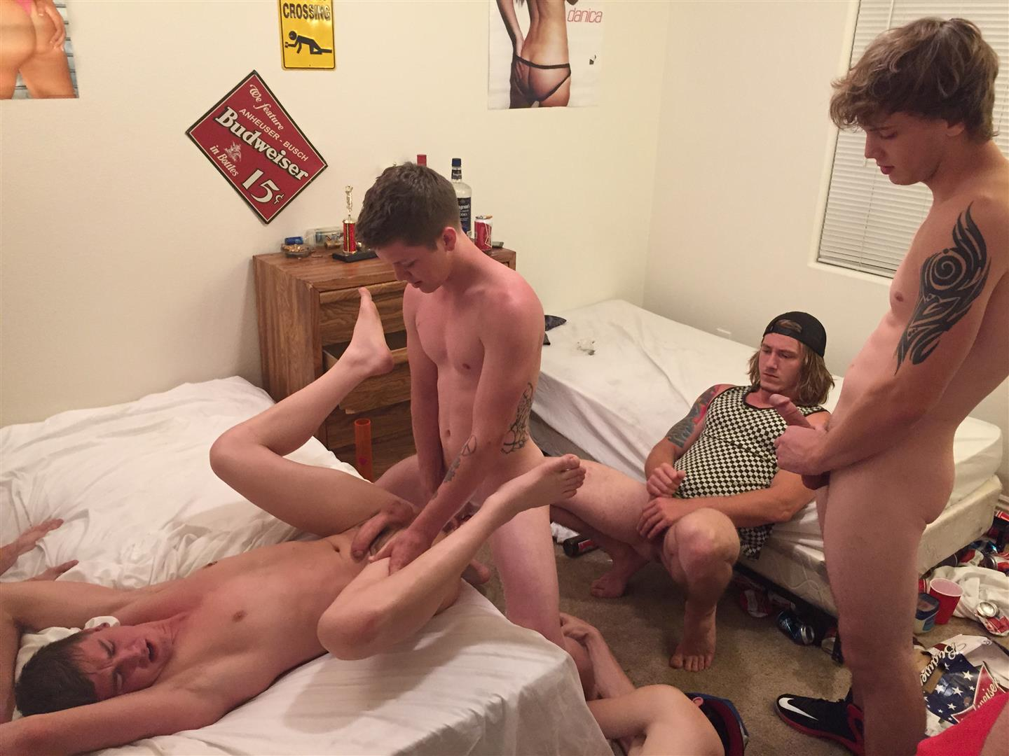Straight College Teens Ass Fucked In Gay Fraternity