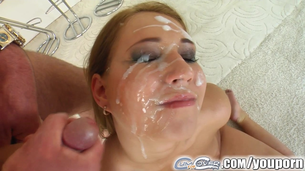 Messy creampie cum covered facial gangbang