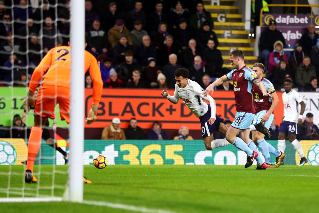 dele alli sparks diving controversy in tottenhams clash against burnley