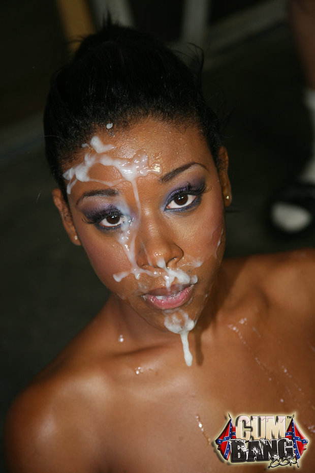 Ebony girl facial