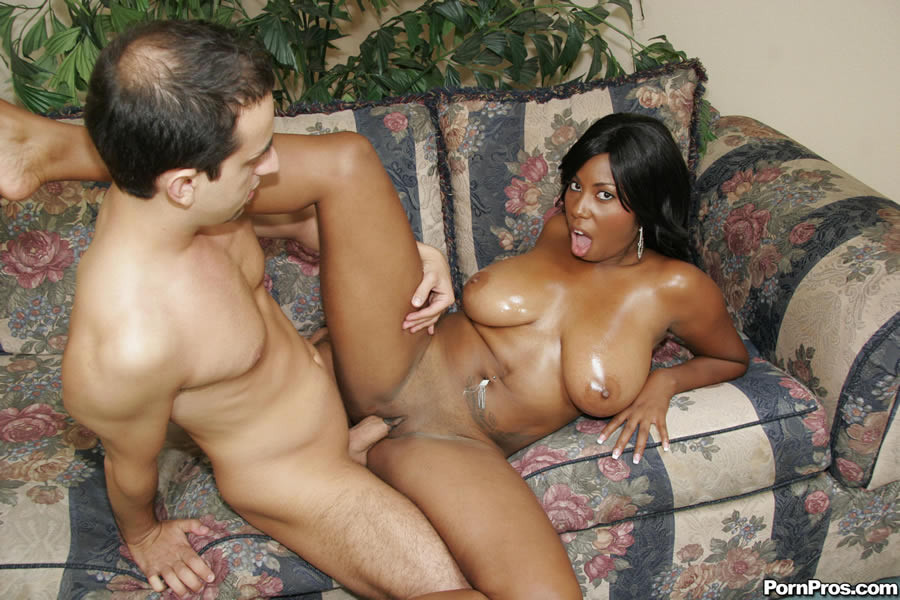 Ebony Milf Takes White Dick