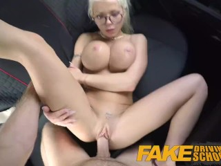 Blonde gets fucked cum Fake Driving School Big Tits Blonde Gets Fucked And Cum Splattered Glasses Xxxpicz