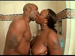 fat black ass fucked in the shower big black cock