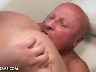 fat old man at vip amateur tube