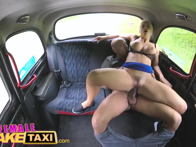 Blonde British Milf Fake Taxi
