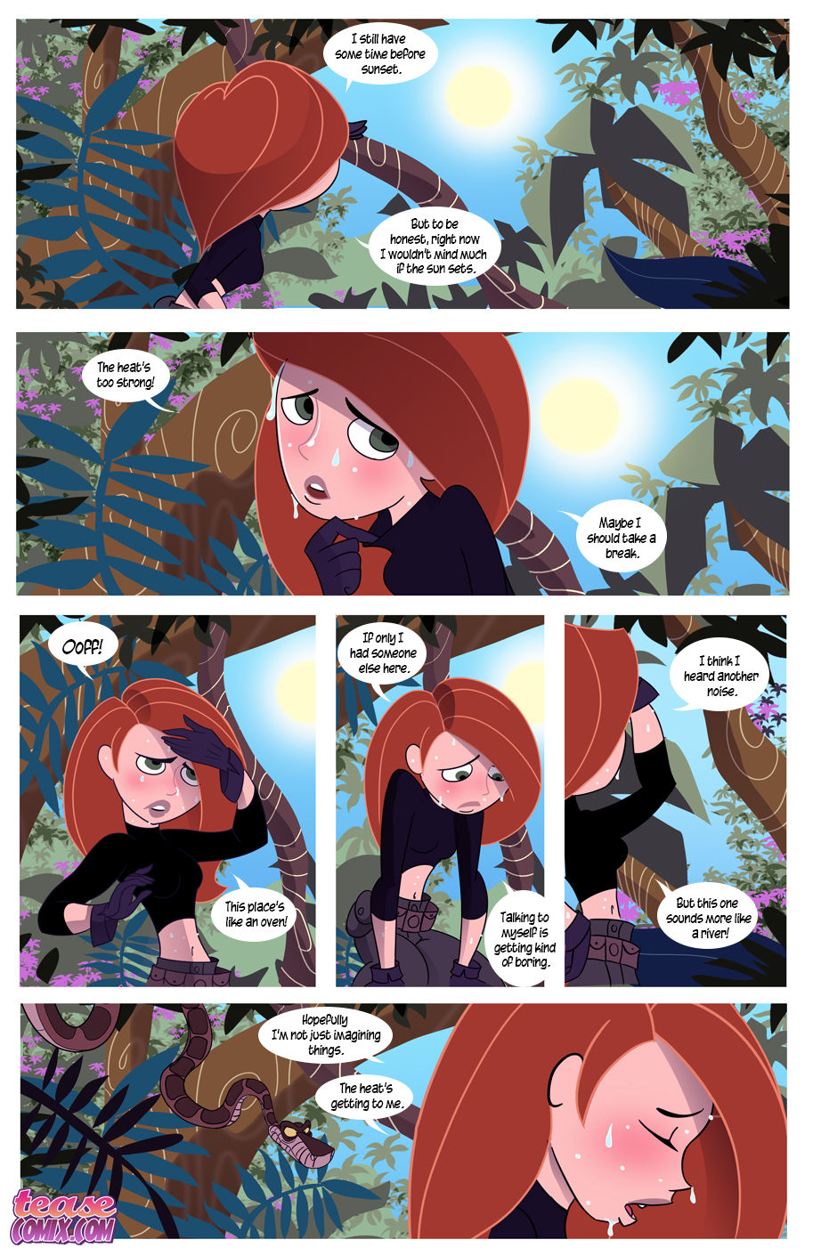 Kim possible lesbian cartoon porn comics has touched