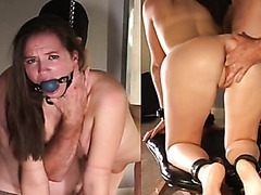 Milf sarah jessie pleasingly fucks cock and opens mouth