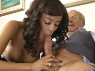 Old man creampie tube