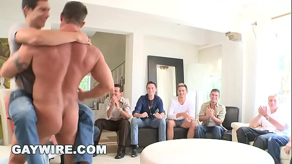gaywire sausage party orgy time with big dick male strippers