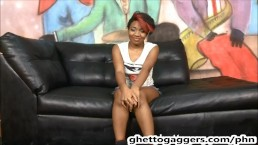 ghetto whore roulette throat destroyed a big white cock