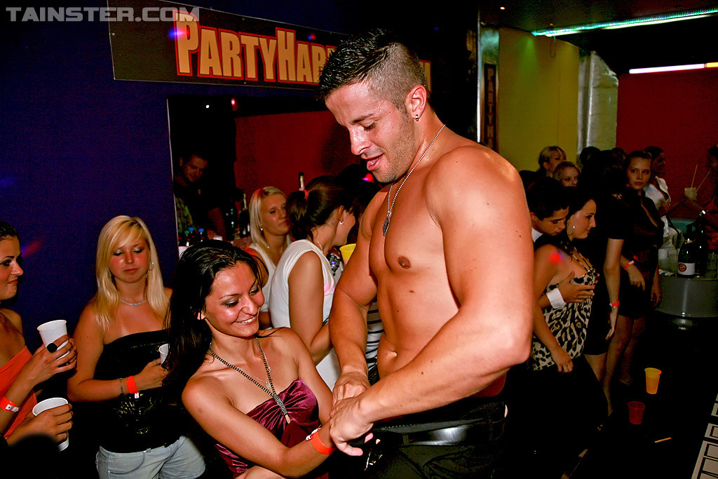 Wives male stripper party topic