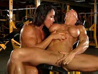 Women having sex at the gym