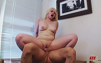 hairy blonde gets a hard fuck free atk hairy porn