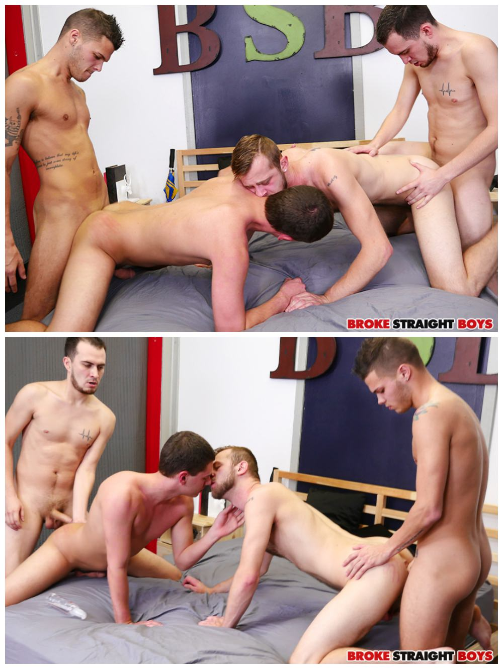 Bareback college group sex