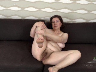 hairy granny showing off 1