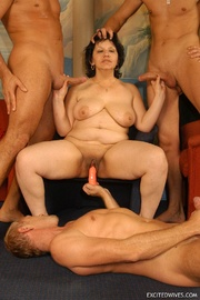hardcore orgy party performed muscular dude and mature grannies tags homemade blowjob